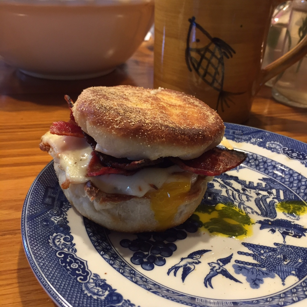 Road and Snack - made to order breakfast sandwich
