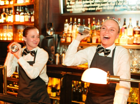 Cute Bar maids at East Hampton Grill, East Hampton, NY (Hamptons)