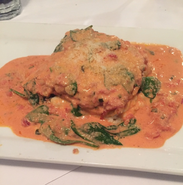 Blue Water Bar and Grill Lasagna
