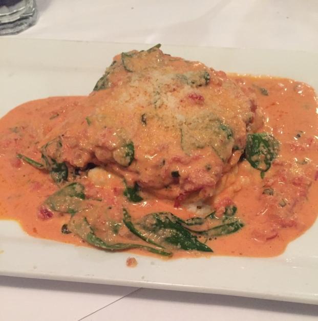 Blue Water Bar and Grill Lasagna
