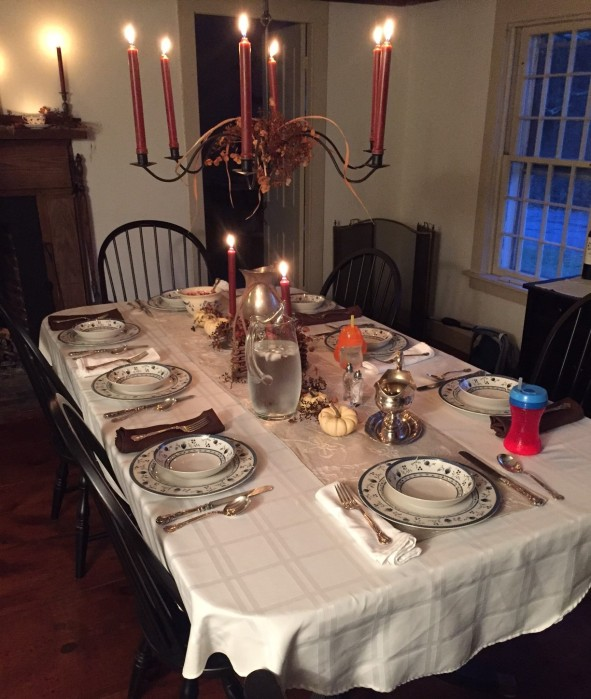 The table: Ready for dining and Thanks