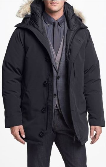 Canada Goose: 'Chateau' Slim Fit Genuine Coyote Fur Trim Jacket