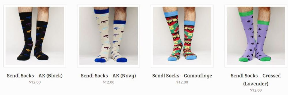 Scndl Socks Homepage